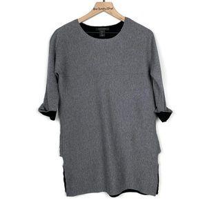 TAHARI | Gray Sweater Tunic Quarter Sleeve Dress